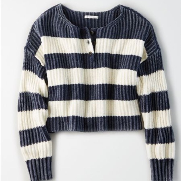 American Eagle Outfitters Sweaters - 🌹  Blue and white striped sweater